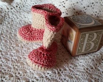 Crochet Baby Boots 0-3 Months