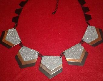Hand crafted designer evening choker necklace