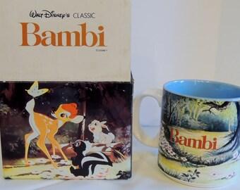 Vintage Walt Disney Classic Bambi Mug