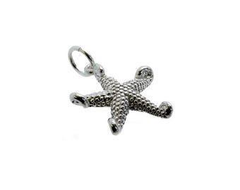 Sterling Silver Star Fish Charm For Bracelets