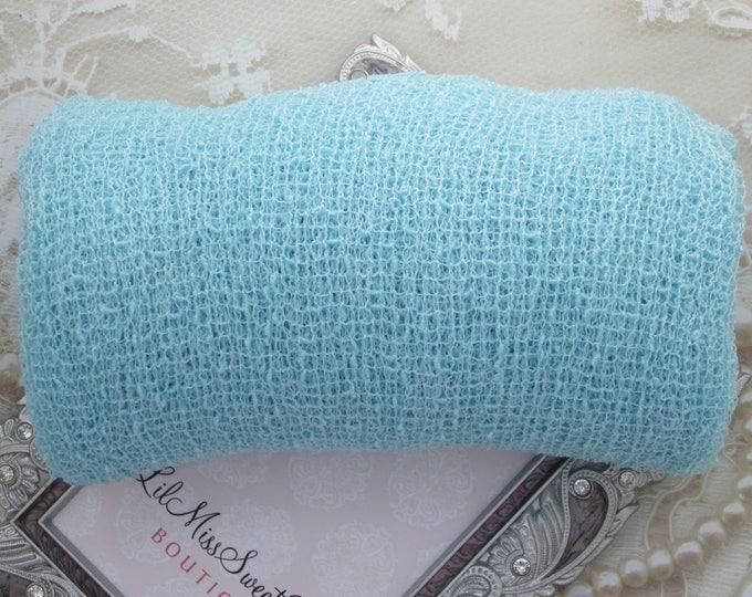 BOYS BABY BLUE Stretch Knit Swaddle Wrap 39 x 72 inches, for newborn photos, boys/girls, newborn photographer, sky blue,  Lil Miss Sweet Pea