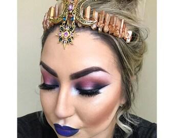 Crystal crown, quartz crystal crown, crystal tiara, mermaid crown, mermaid tiara, boho crown, festival crown, moon jewelry, gypsy crown