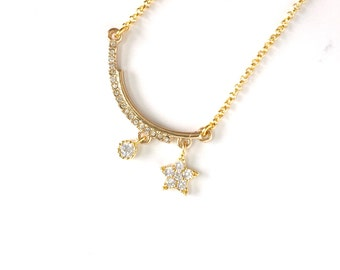 Star Pendant Necklace, Delicate Necklace, Star Charm Necklace, Star Jewelry, Gold Star Necklace, Tiny Star Necklace, Everyday Jewelry