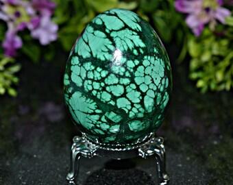 Natural Malachite Crystal Egg 55 MM, Natural Malachite Crystal