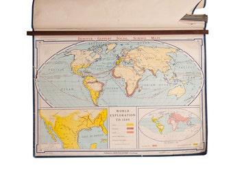 Denoyer geppert etsy vintage denoyer geppert world map gumiabroncs Image collections