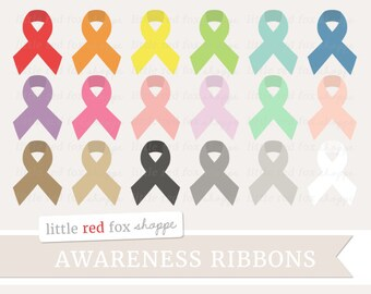 Awareness Ribbon Clipart, Dare to Care Ribbon Clip Art Hope Faith Love Label Colorful Solid Cute Digital Graphic Design Small Commercial Use