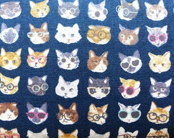 1 yard - Little Kitties, Kokka  Japanese import