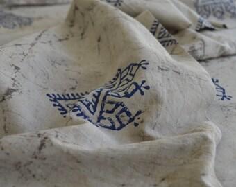 Indigo Fabric, Kashish Dyed, Block Printed, Indian fabric, Printed Cotton Fabric, Fabric By yard, Hand Block Print Fabric, Cotton Fabric