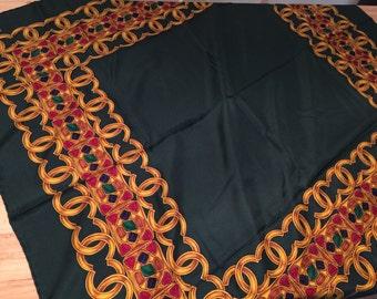 Beautiful vintage autenthic 100% Silk Chanel Scarf