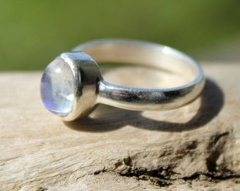 ethnic silver jewelry ring Moonstone solitaire natural shantilight