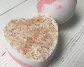 Raspberry Cream Bath Bomb Duo