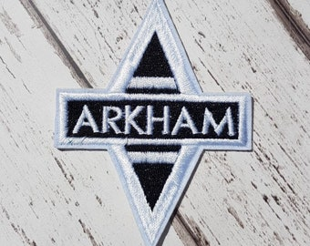 Arkham Embroidered Patch Applique Very Gothic Emo Punk