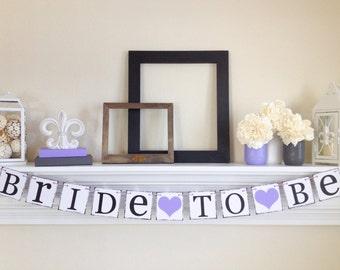 Bride To Be Banner, Bridal Shower Decorations, Bridal Shower Banners, Bachelorette Party, Bridal Shower Sign, Lavender Shower Decor, B225