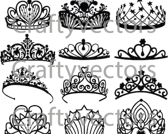 Crowns and Tiaras vector file