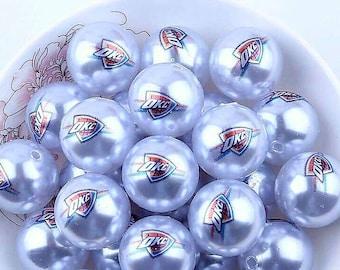 Oklahoma City Thunders Beads-Qty: 10