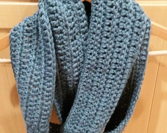 Chunky infinity scarf thick warm crochet scarves sage green winter warm