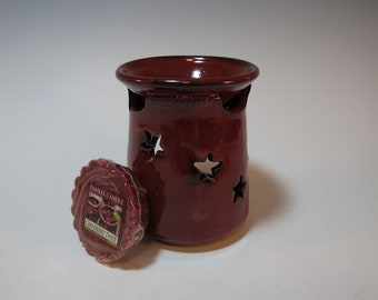 Wax Melt Burner Essential Oil Aromatherapy Diffuser Red Star Hand Made Ceramic in stock