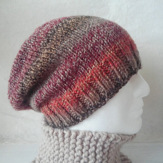 Knitting Patterns Charley Beanie Slouchy Hat Pattern Easy Beanie
