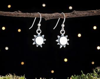 Sterling Silver Sunshine, Summer Sun Earrings - Double Sided