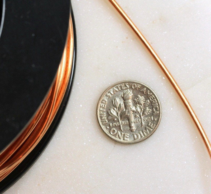 Copper Wire, 14 Gauge, Dead Soft, Solid Copper Wire, Jewelry Quality ...