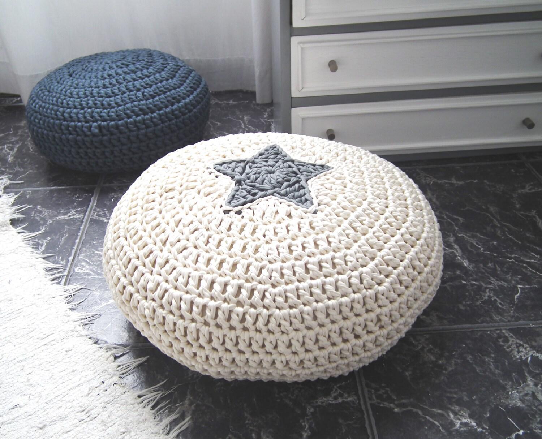 Crochet Floor Cushion Star Pillow Kids Floor Pillow Pouf