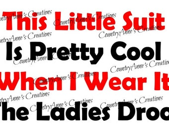 "SVG PNG DXF Eps Ai Wpc Cut file for Silhouette, Cricut, Pazzles, ScanNCut - "" This little suit"" svg"