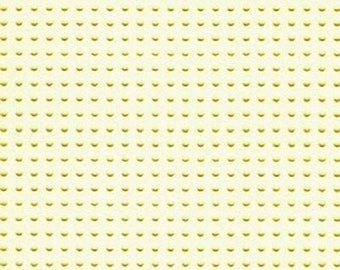 Paper perforated embroidery yellow straw - 15 x 15 cm