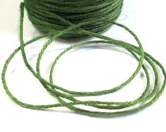 10 m khaki Green 2mm hemp cord