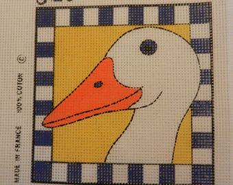 Needlepoint for kid.s 20x20cm duck picture