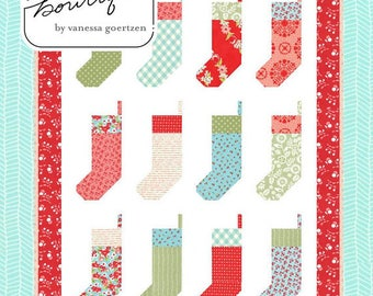 """By The Chimney Mini Quilt Pattern by Lella Boutique, 32"""" x 43"""", Scrap Friendly"""