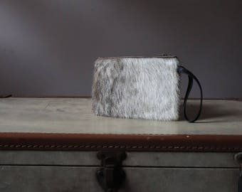 Vintage faux fur clutch / / bag elegant year 60's / / Wallet