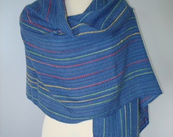 Hand Woven Shawl - Sky Blue