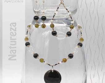Jewelry Set | Necklace, Bracelet, Earrings | Natureza PG40230809