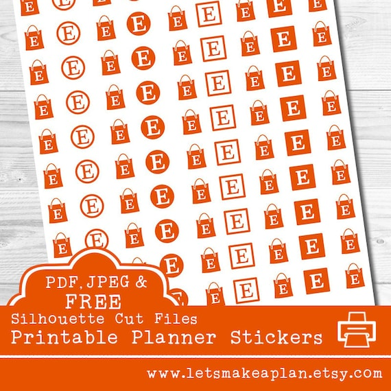Etsy printable planner stickers etsy stickers planner stickers ec planner stickers etsy logo stickers printable stickers cut files from letsmakeaplan