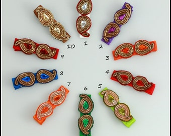 Beautiful Paisley design Baby Toddler Girl Hair clips Hair accessories