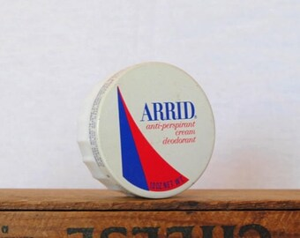 Vintage Arrid Anti-Perspirant Cream Deodorant Jar