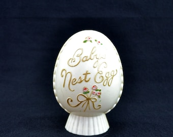 Vintage Baby's Bank, Plastic Baby's Nest Egg Bank