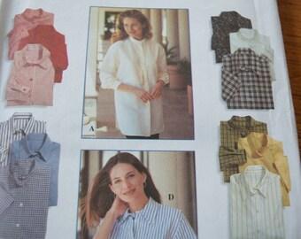 Simplicity 9818 Misses Shirt in sizes 12-14-16 (uncut)
