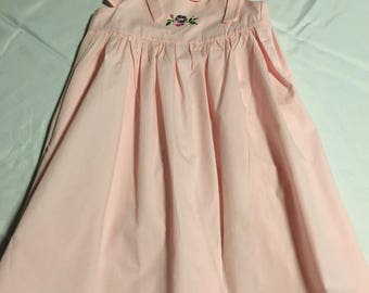 Pink Embroidered Sundress
