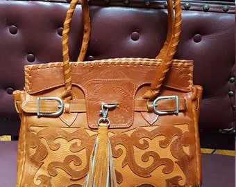 Awesome Burnet Orange  Bag.Made In Paraguay   13x10