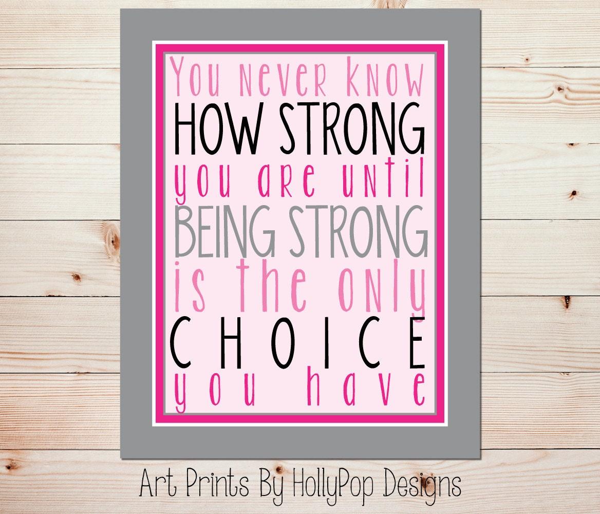 Arte gráfico impresión uno nunca sabe qué tan fuerte eres