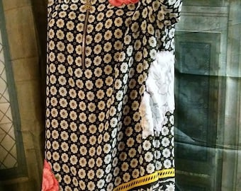 """Sale...Dolly"""" upcycled tunic xl 42"""" bust"""