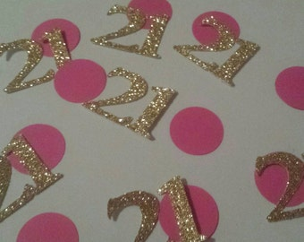 100 count 21st birthday party table decor confetti