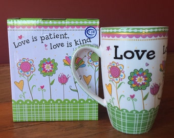 Valentine Love Soy Candle in Burton and Burton Ceramic Mug Hand Poured & Highly Scented Eco Friendly, Clean, Long Burning, You Choose Scent