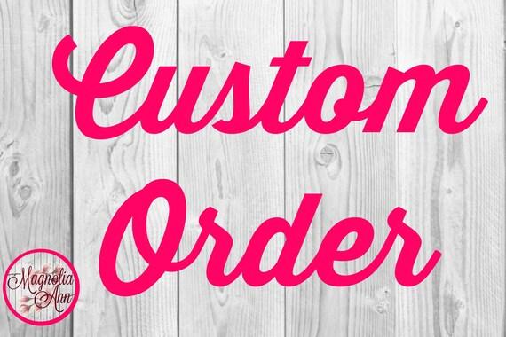 Custom Listing for Jenni A