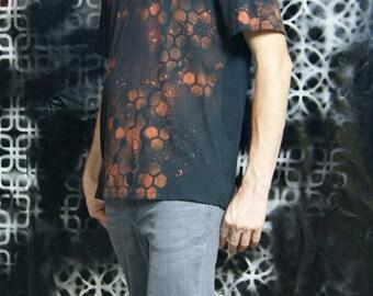 Mens Tshirt, sacred geometry, psytrance, festival, rave, doof, burning man, uniex,