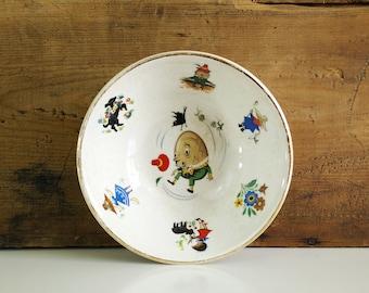 Arklow Nursery Rhyme Bowl / Humpty Dumpty dish