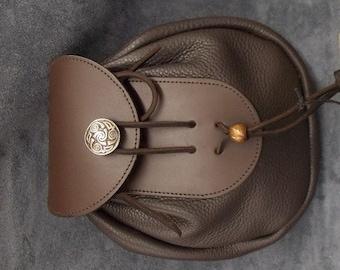 Leather Sporran - Dark Brown