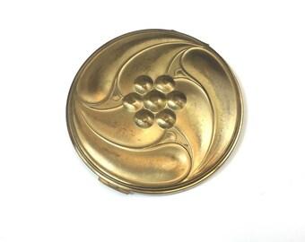 30s Art Deco Gold Compact| Volupte