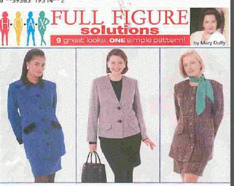 Uncut Simplicity Pattern7292. Full Figure Fashions. Design Your Own Wardrobe. Factory Folded. Sizes Women's 18-24